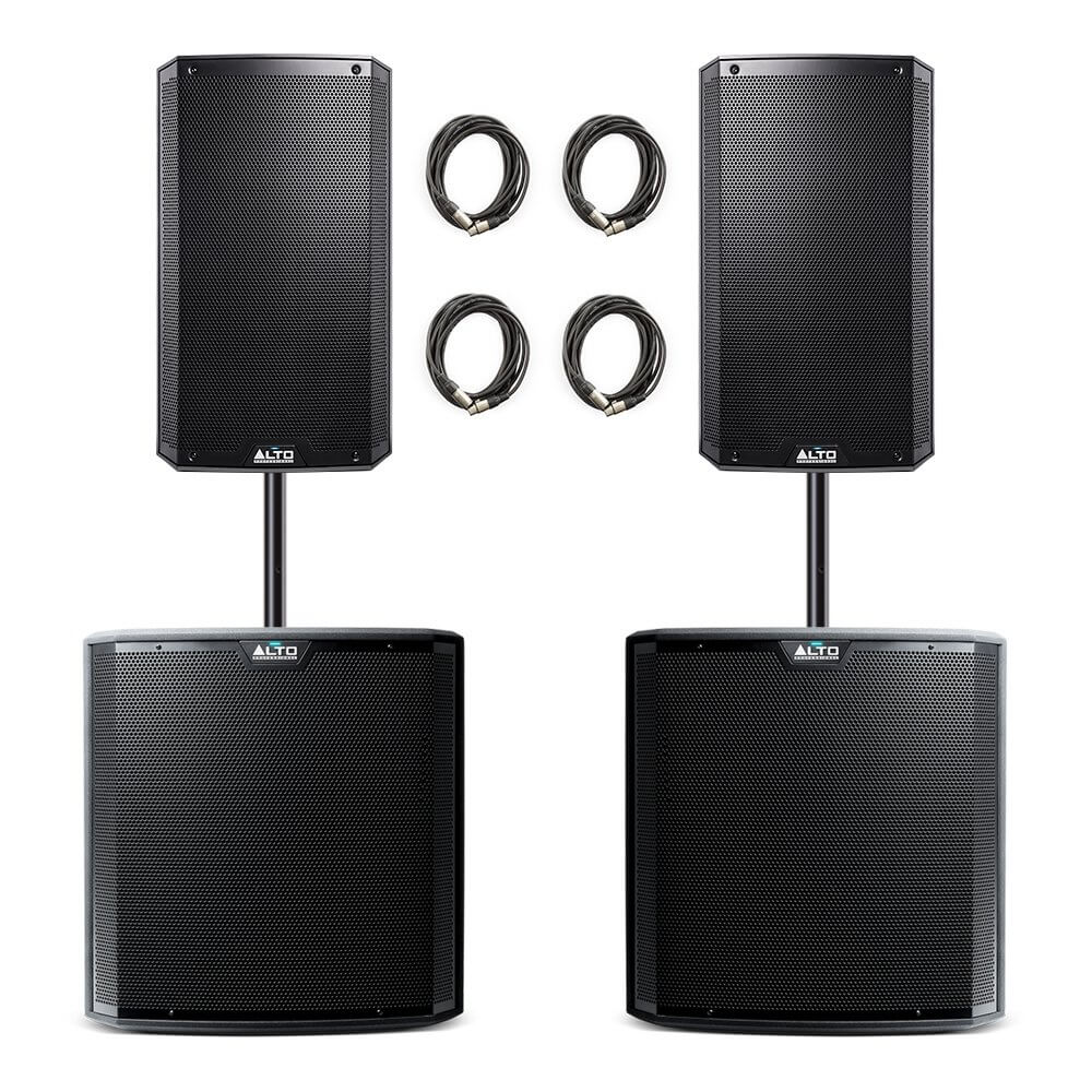 Alto Professional Truesonic TS3 PA System inc. Speaker Poles and Cables
