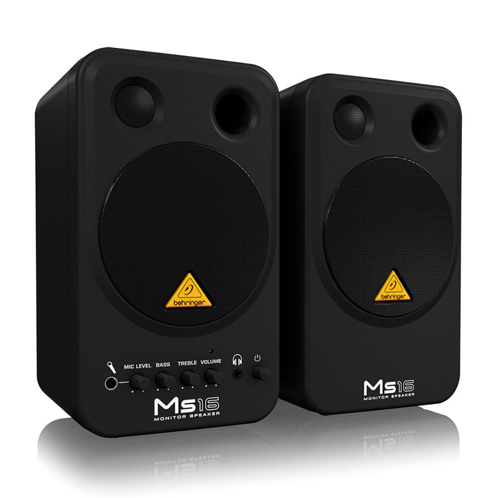 "Behringer MS16 Active 4"" Professional Home Studio Monitor Speakers (Pair)"