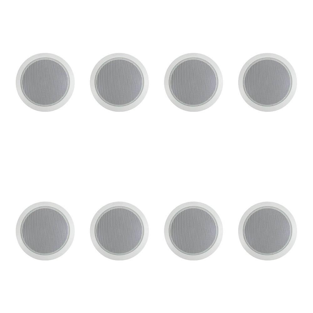 """8x Bosch 6"""" 100V Ceiling Speaker (White)"""
