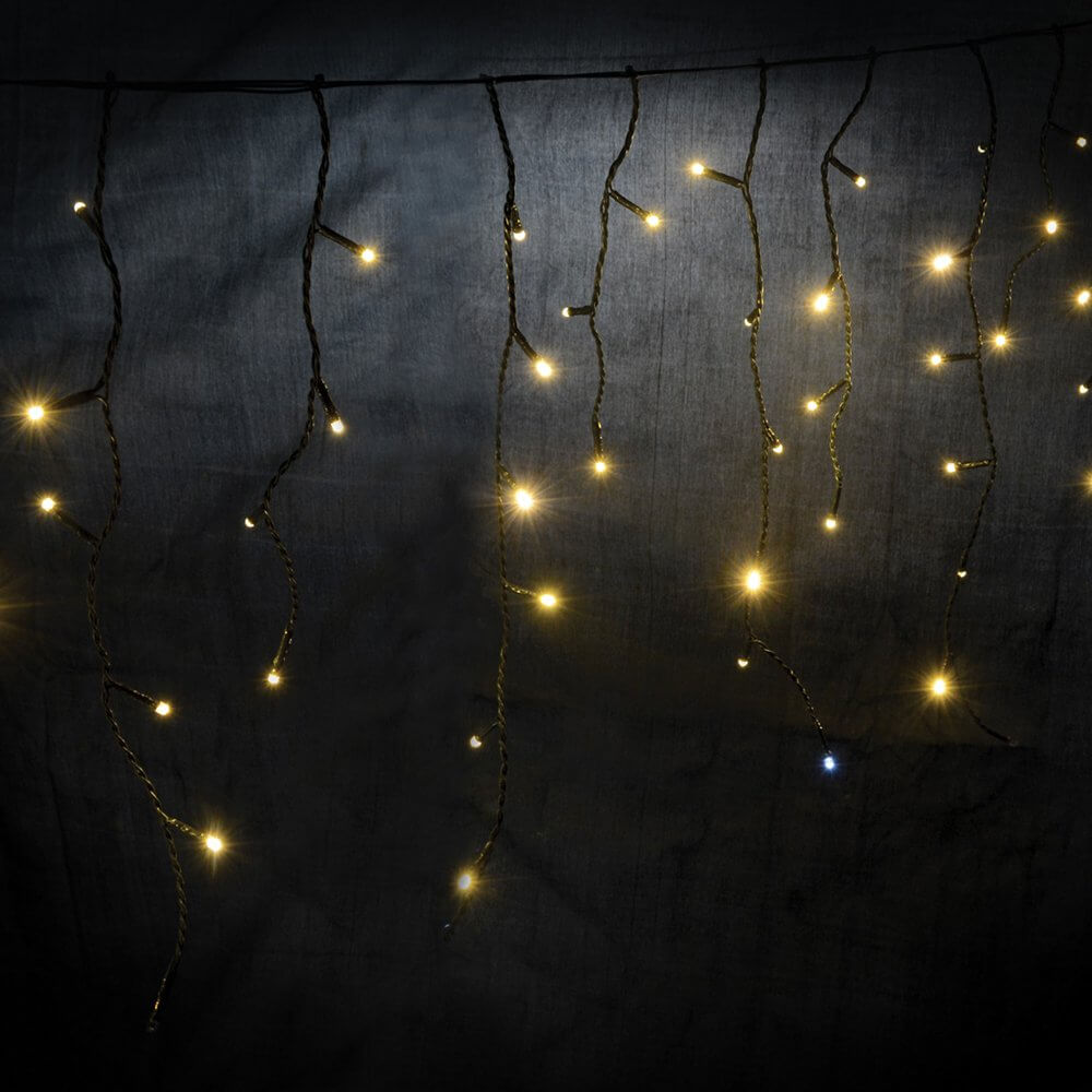 more photos c8ee9 d5cb8 Lyyt Icicle-Inspired LED Outdoor String Lights Fairy Light Twinkle Effect  Warm White