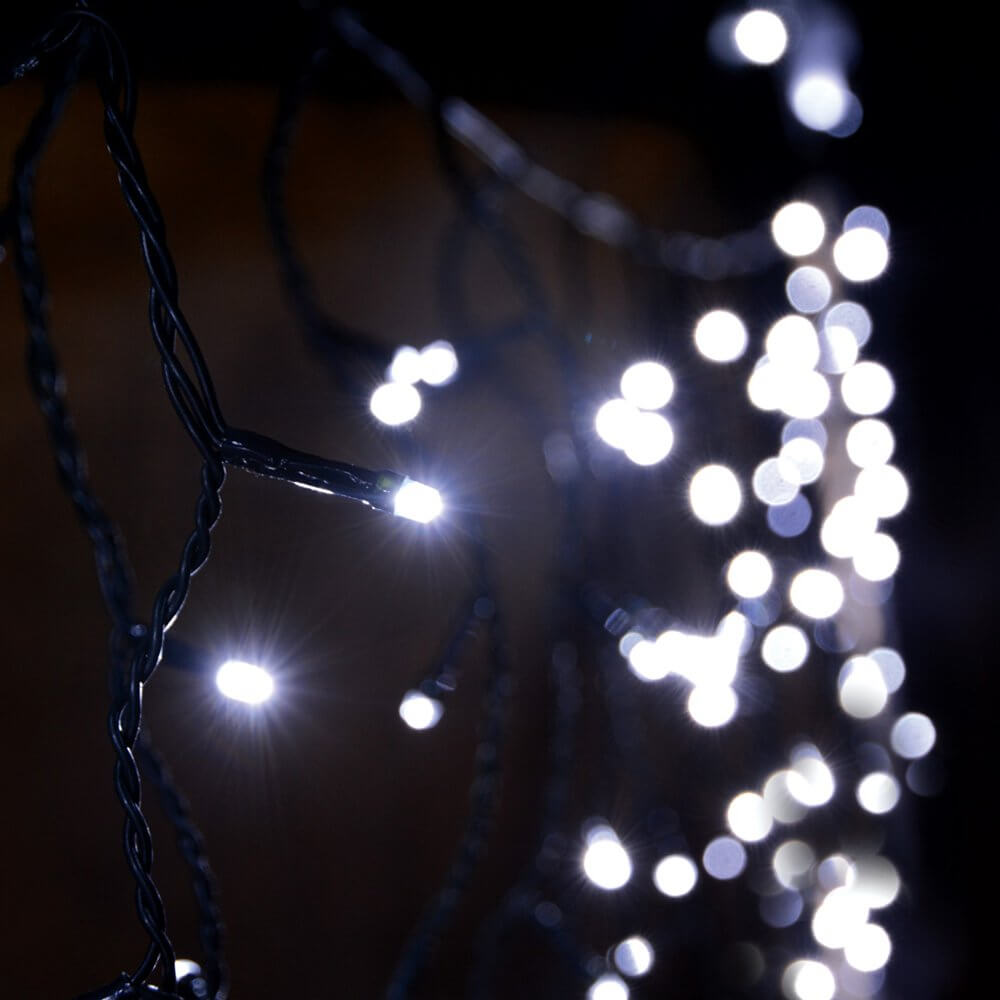 new style 7f7a9 cc3c6 Lyyt Icicle-Inspired LED Outdoor String Lights Fairy Light Twinkle Effect  Cool White