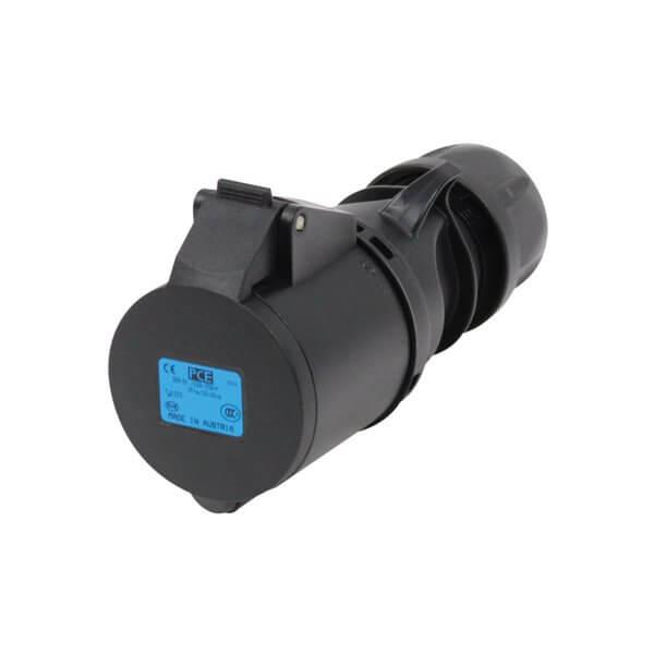 PCE 32A 230V 2P+E Black Connector (223-6X)