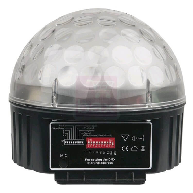 SHOWTEC Star LED 9w DMX mirrorball