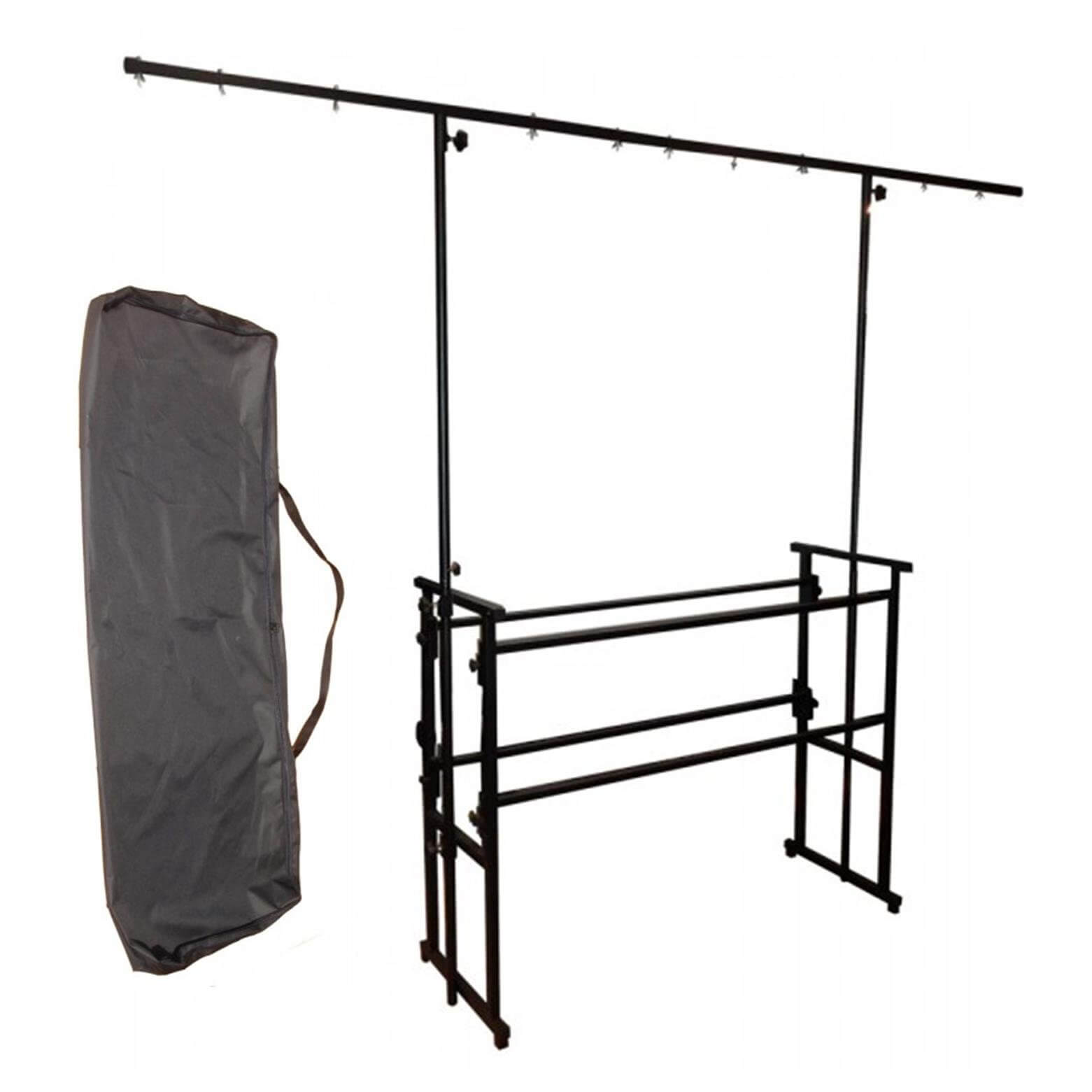 Ibiza Sound Professional Mobile Disco 4ft Deck Stand with Light Bar + Bag