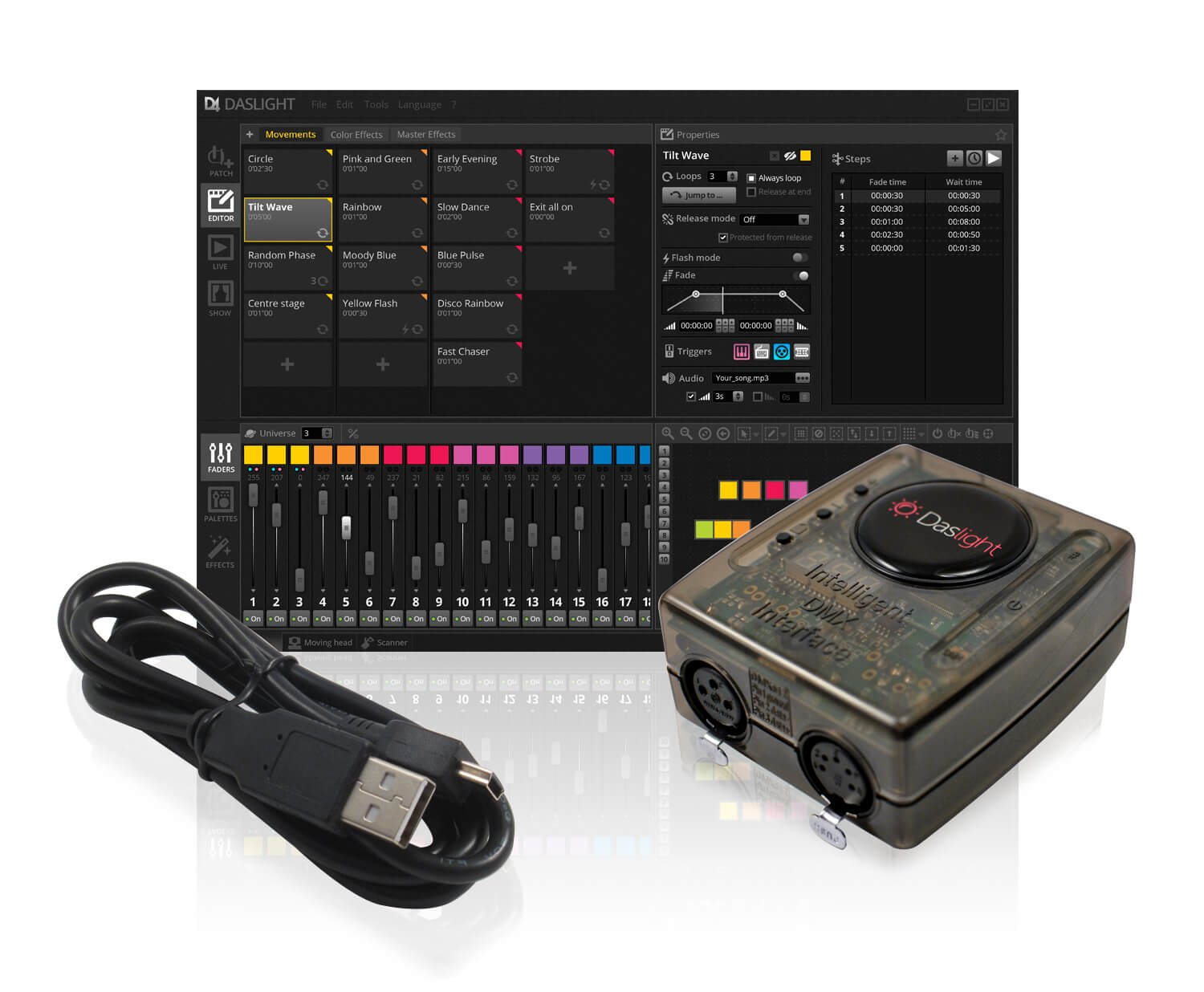 Daslight DVC4 Gold DMX Software Package