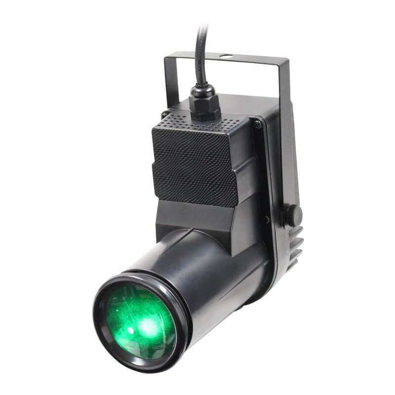 Equinox Pinspot RGBW 12W Quad Colour DMX Spot Light