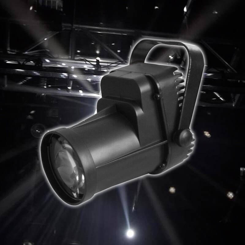 Equinox LED 3W Pinspot Spot Light Black Housing