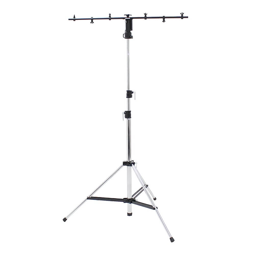 Equinox Heavy Duty 3 Section Tripod Lighting Stand (Chrome)