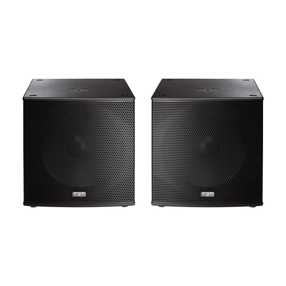 2x FBT Subline 118SA Subwoofer PA Speaker (Bundle)