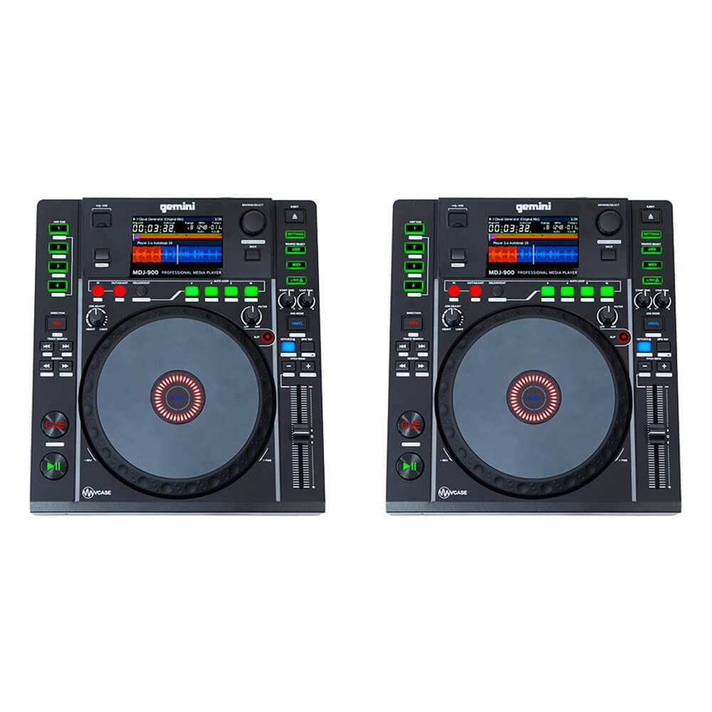 2x Gemini MDJ-900 Professional DJ Turntable