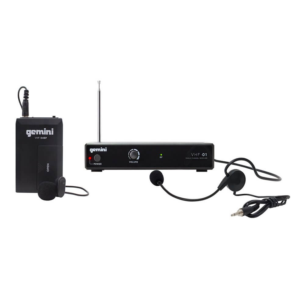 Gemini VHF-01HL Single Channel VHF Wireless Headset/Lavalier System