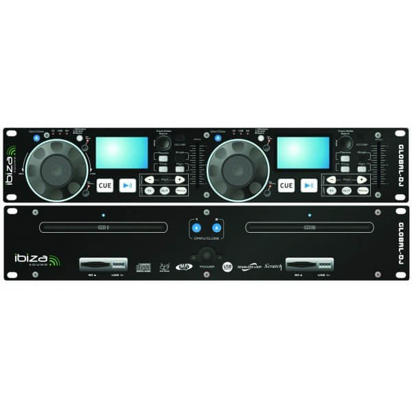 Ibiza Sound Global-DJ Dual CD Player USB SD MP3