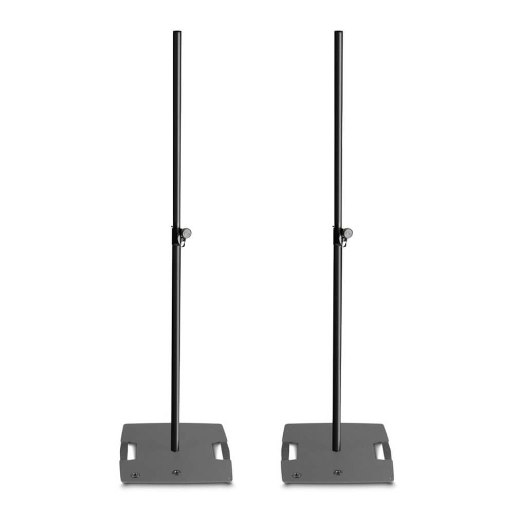 2x Gravity LS431B Square Base Lighting Stand with 3x M20 Mount