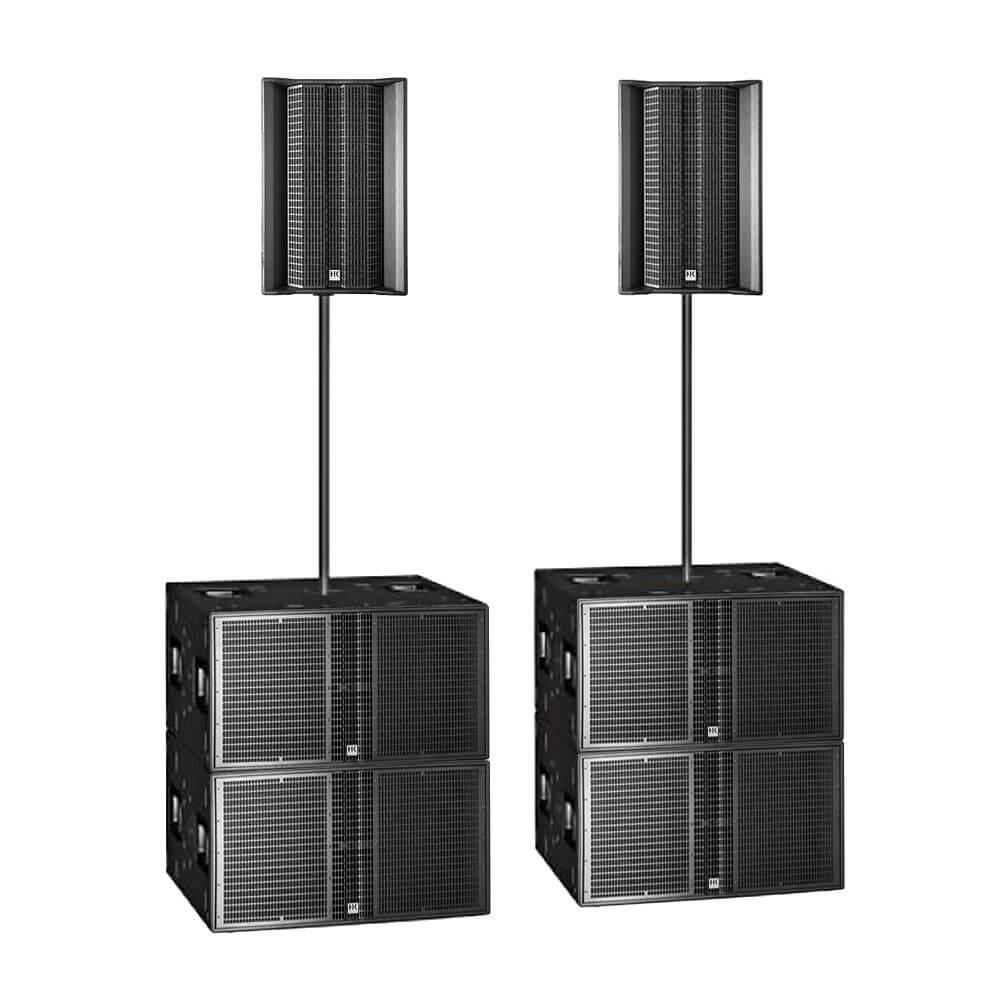 HK Audio L5LTSA + LSSUB4000A 6800W Active Sound System Long Throw