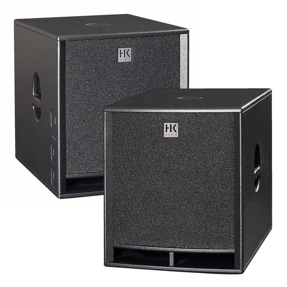"2x HK Audio Premium PRO18SA 18"" Active Subwoofer Bass Bin DJ Disco PA"