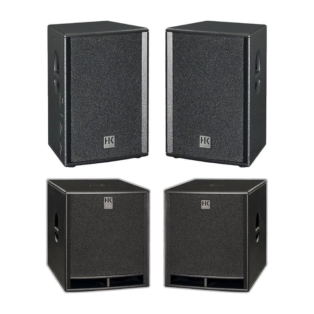 "HK Audio Premium PRO Passive 12"" Speaker Package 3600W DJ Sound System"
