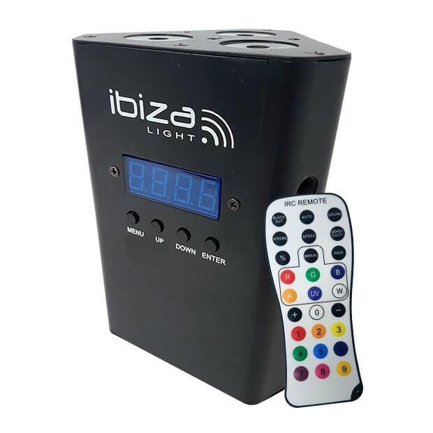 Ibiza Light Truss Par Batt LED Uplighter inc. Remote