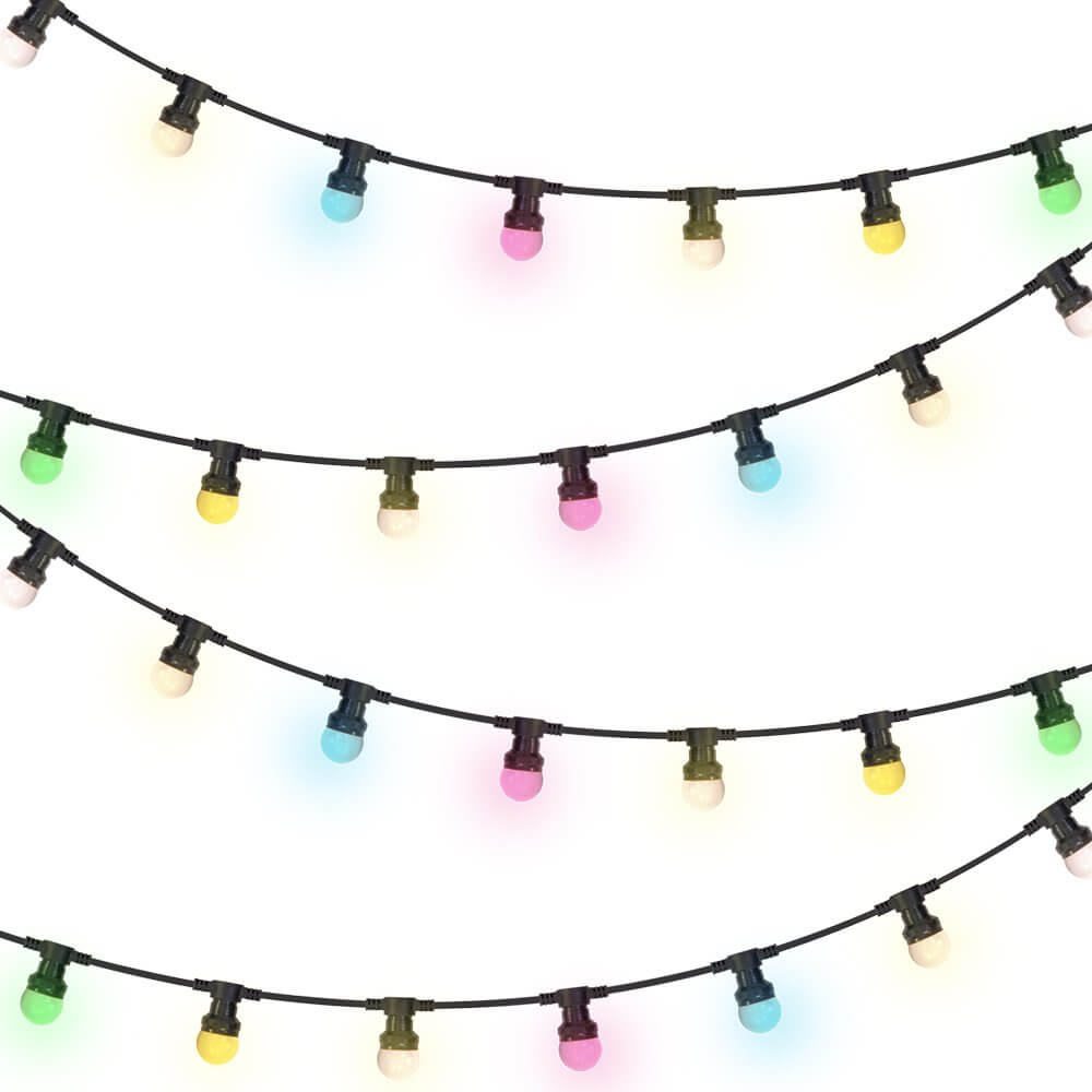 4x Ibiza Light Coloured LED IP44 Festoon (10m)