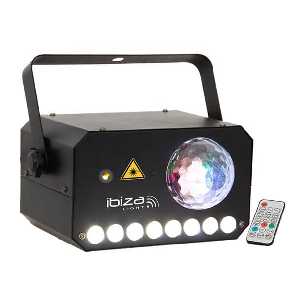Ibiza Light 3-in-1 Astro-Strobe-Laser Light Effect