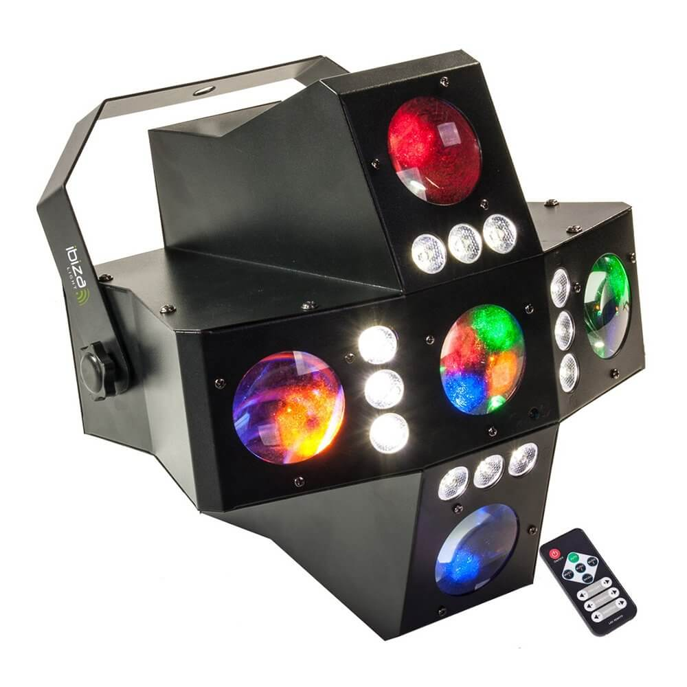 Ibiza Cross-GoboFX LED Light Effect Gobo DJ Disco Light DMX inc Remote