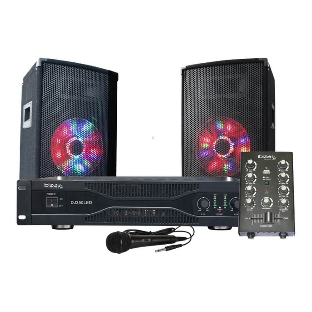 Ibiza Sound DJ350LED 500W PA Sound System