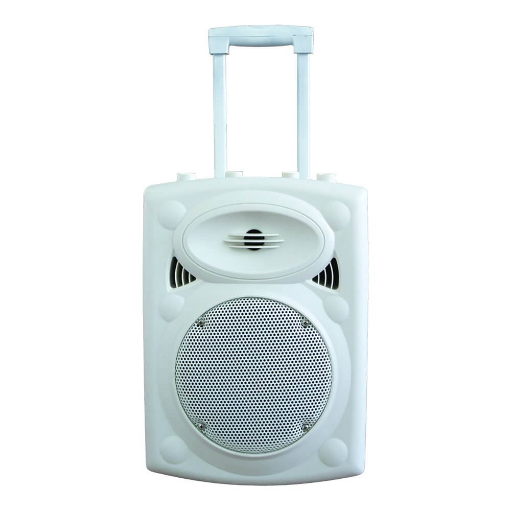 Ibiza Sound PORT8 Portable Stand-Alone PA System (White) inc. UHF Microphone