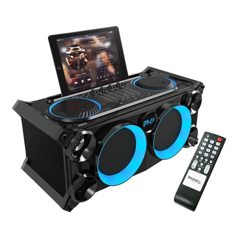 Ibiza Sound SPLBOX-200 200W Bluetooth Sound System & Mixer