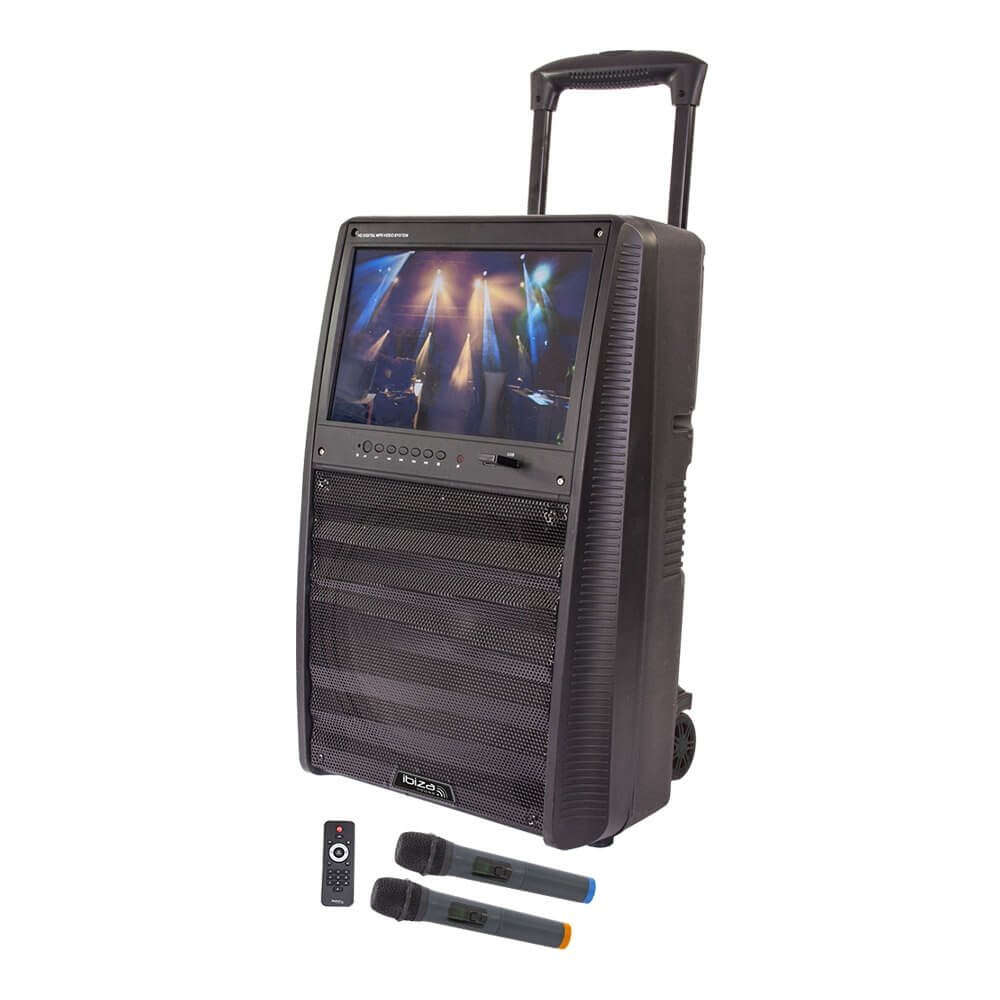 Ibiza Sound 800W Standalone TFT Karaoke System inc. Wireless Mics