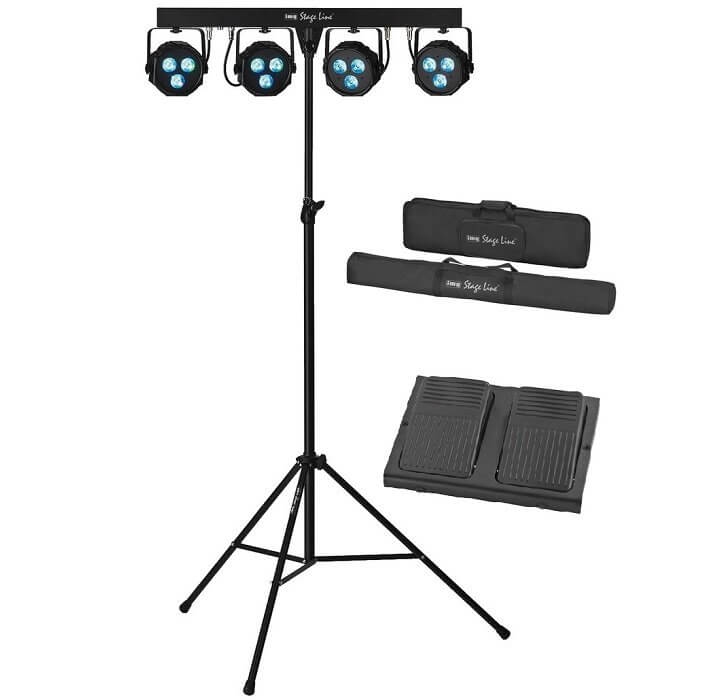 IMG Stageline PARL-45SET Spotlight Set LED Wash inc Tripod & Controller / Cases