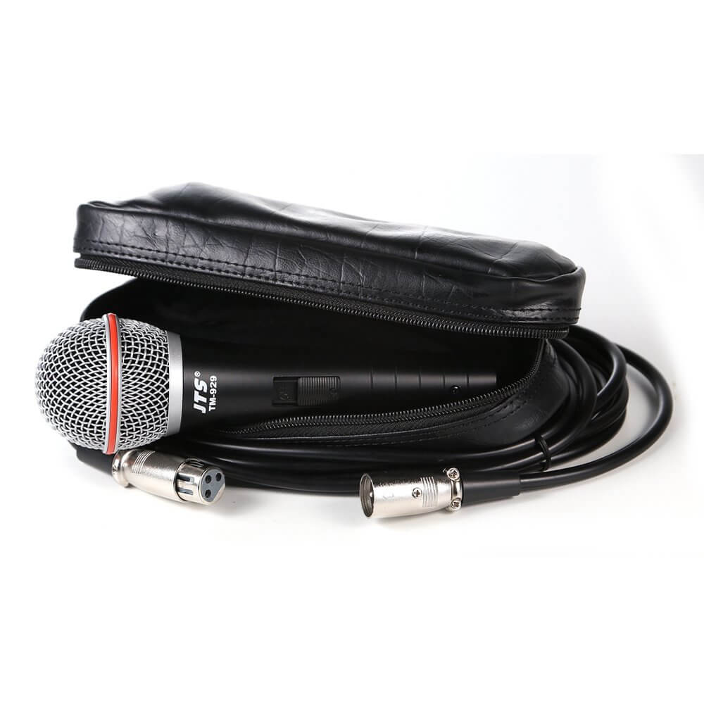 JTS TM-929 Handheld Vocal Microphone inc. Leather Pouch and XLR Cable