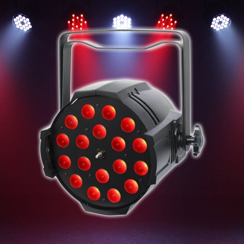 LEDJ Performer 18 Quad Zoom 18 x 8w LED Stage Light Par Can