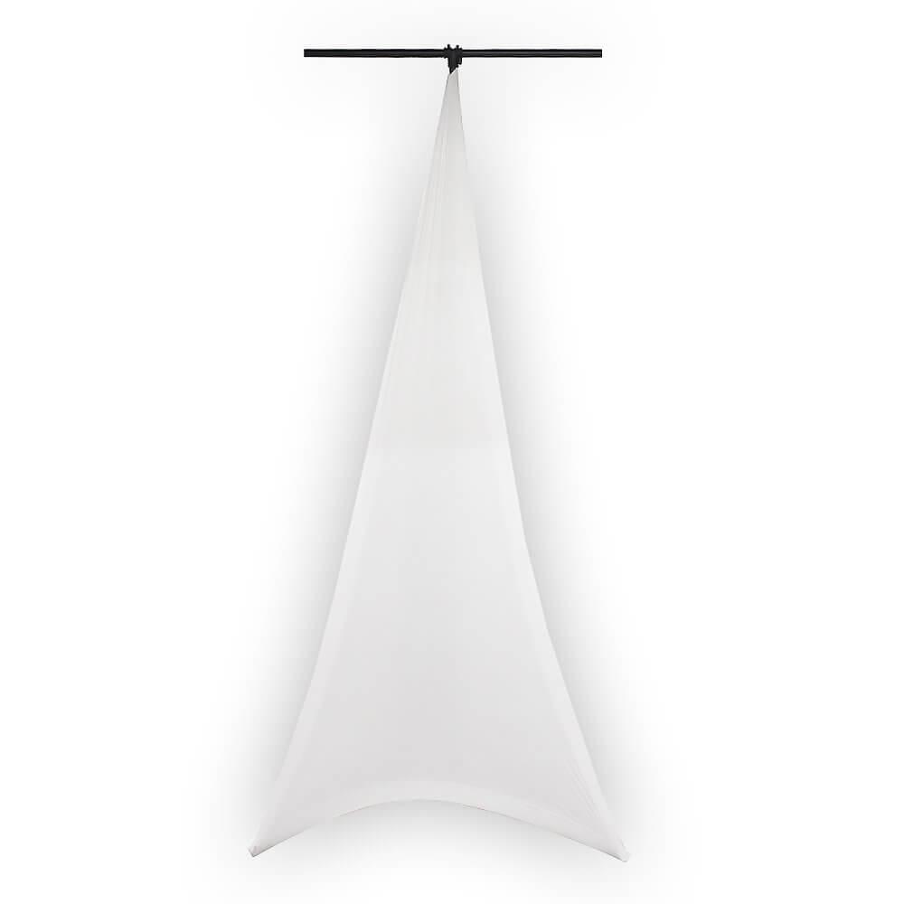 LEDJ Double Sided White Lycra Lighting Stand Scrim
