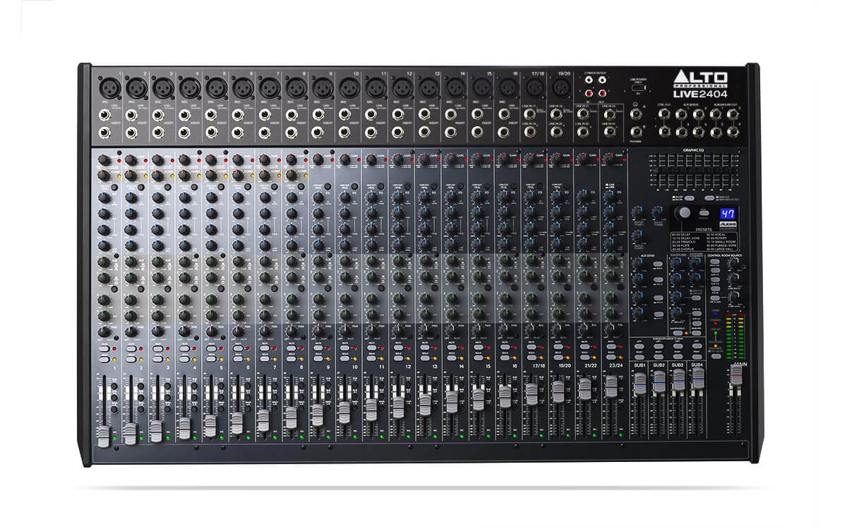 Alto Professional Live 2404 Mixer 24 Channel USB DSP Digital Effects