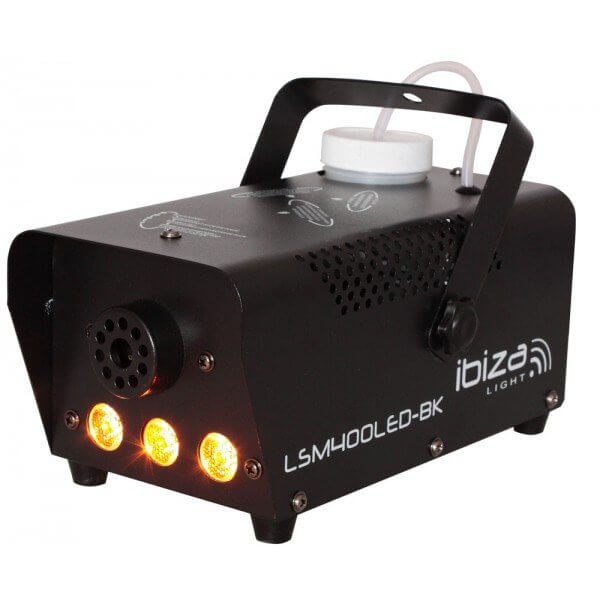 Ibiza LSM400BK 400W Smoke Machine with Amber Light x 3