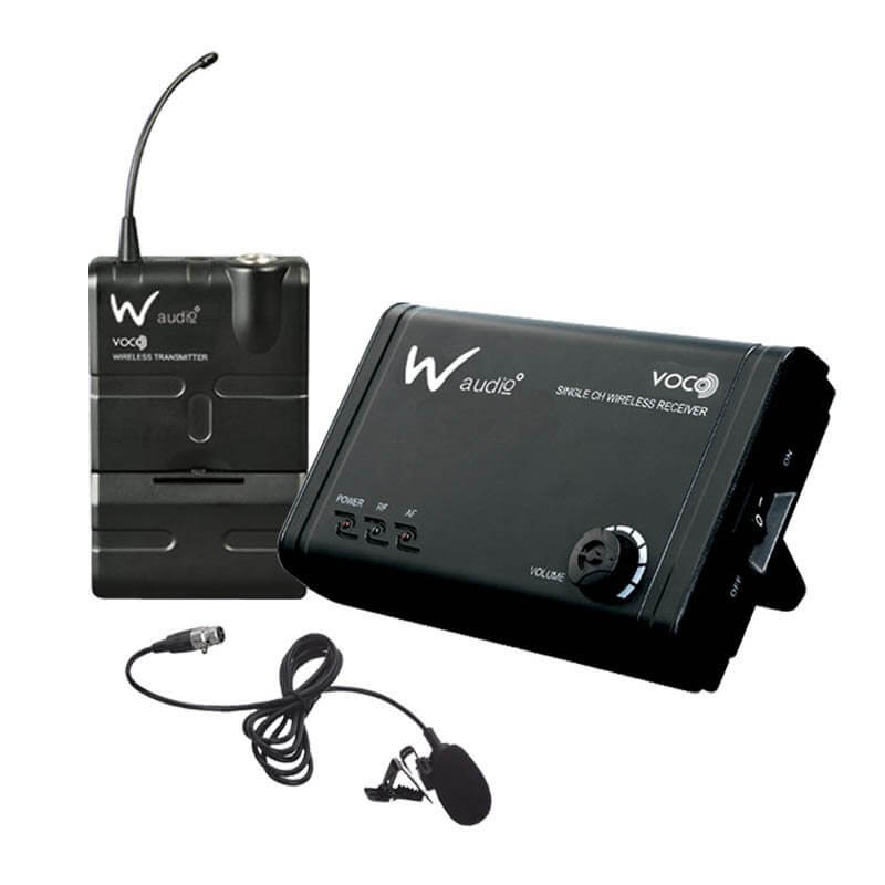 W  Audio Voco Presenter UHF Lapel Lavalier System (864.82MHz)