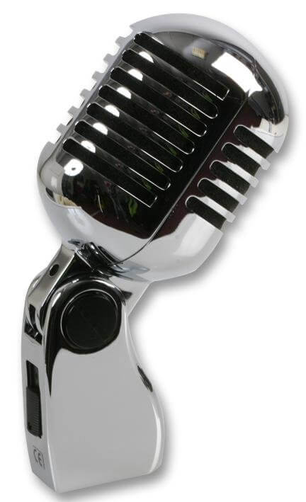 Pulse Retro 50's Chrome Microphone Elvis Style