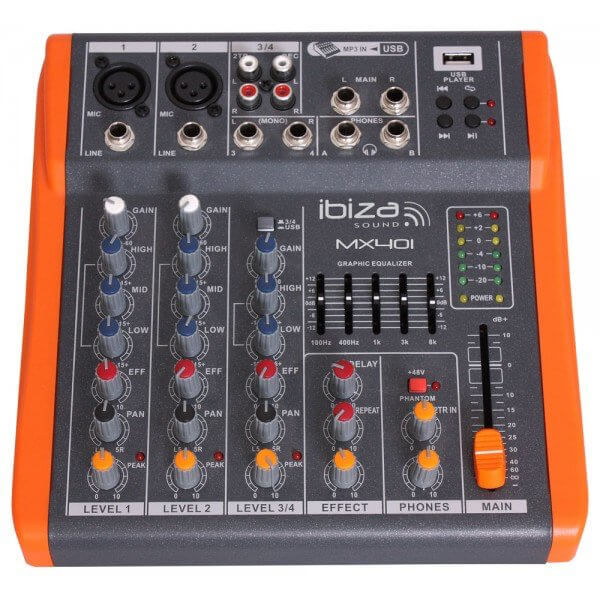 Ibiza MX401 Sound Mixer Notepad