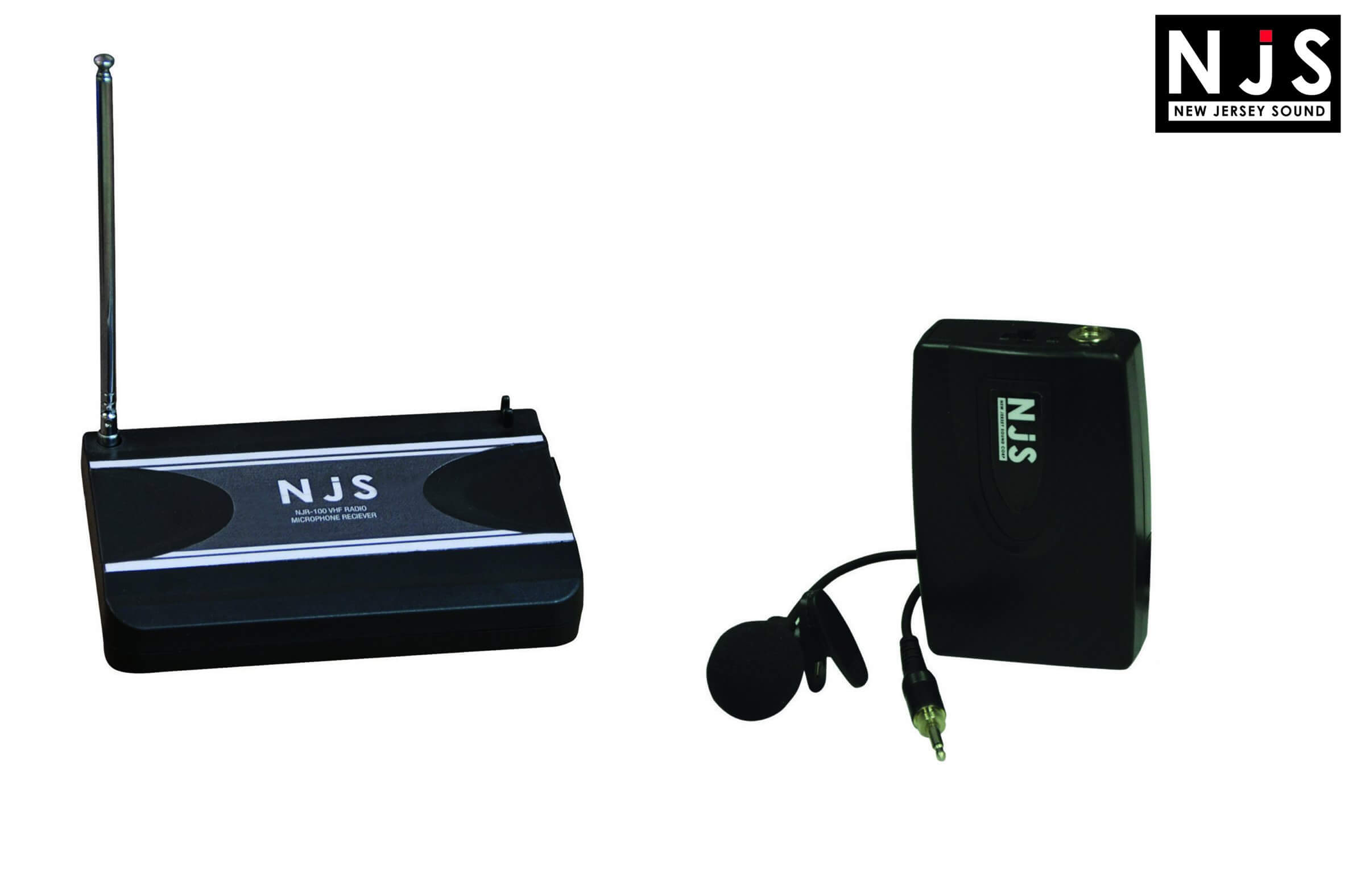 NJS 175.0 MHz VHF Tie Clip Radio Microphone System
