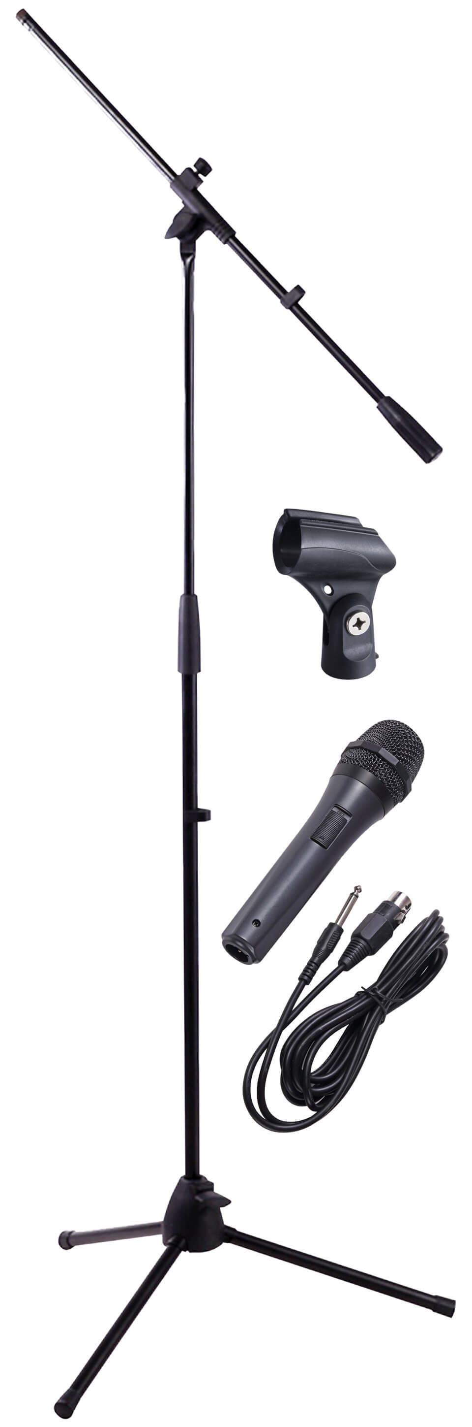 NJS Microphone Stand Kit Inc Mic Lead & Stand