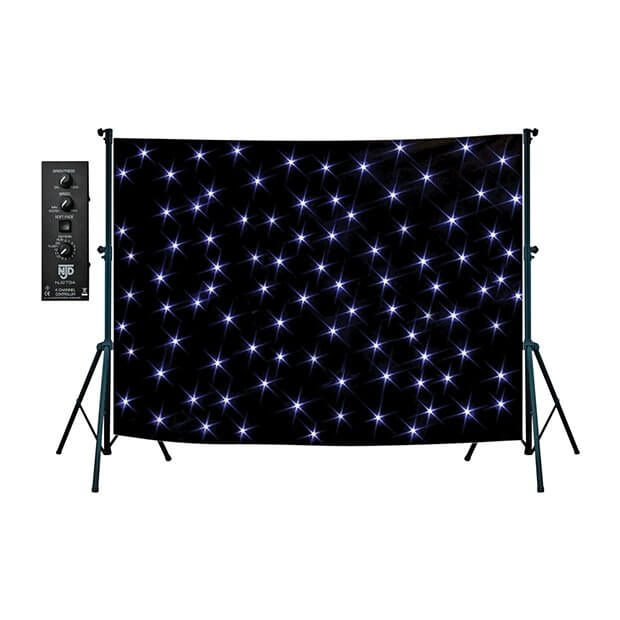 NJD Stand Mounting Star Cloth Kit (3 x 2m) Black