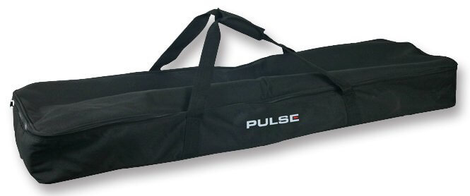 Pulse Dual Speaker Stand Deluxe Padded Carry Bag Heavy Duty Black