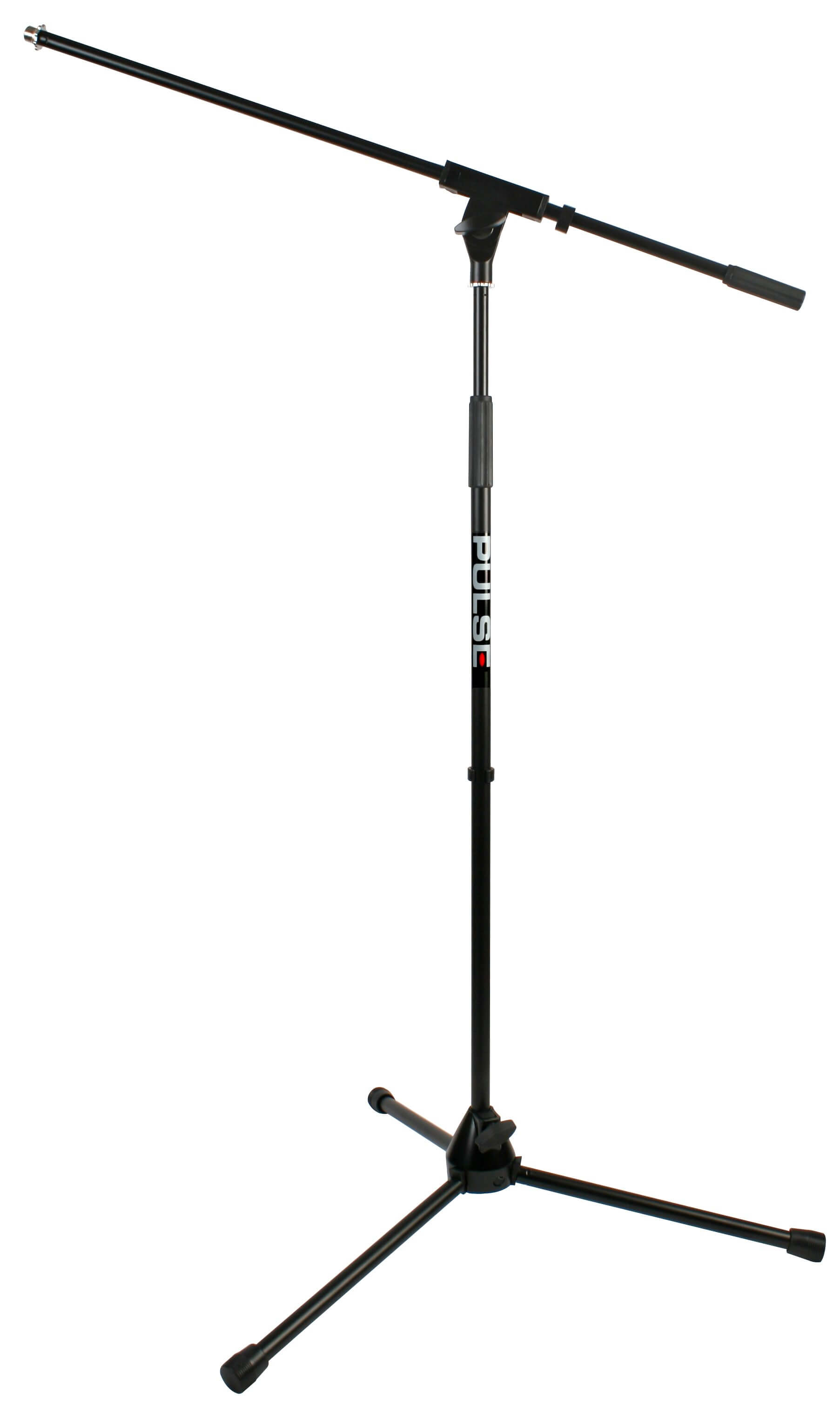 Pulse Adjustable Black Boom Microphone Stand