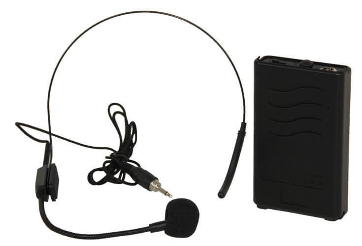 Ibiza Wireless Headset Beltpack Microphone 207.5MHZ