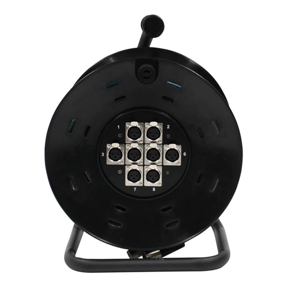 Pulse 8 Way XLR Multicore Drum Stage Box (15m)