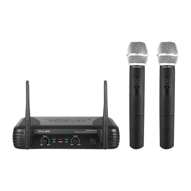PULSE PWM200VHF-HH VHF Dual Handheld Wireless Microphone System, 173.8 + 175.0MHz