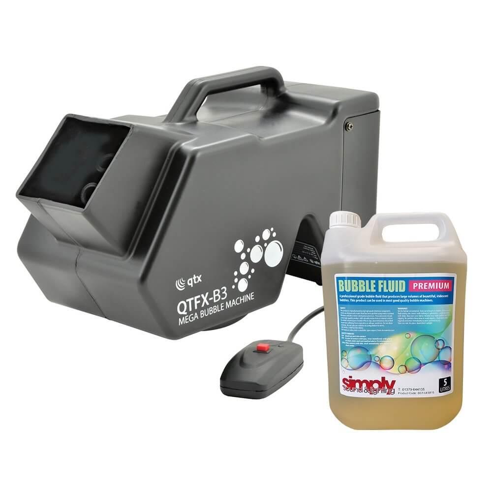 QTX B3 Bubble Machine inc. 5L Fluid