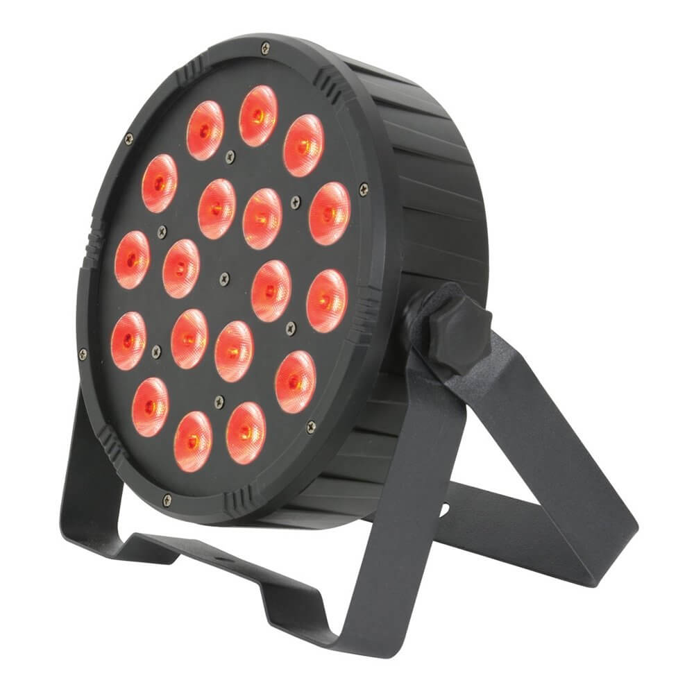 QTX 18 x 1.5W TRI RGB LED Par Can DMX Uplighter