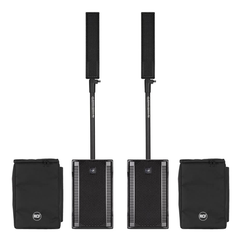 2x RCF EVOX8 Active 2Way Line Array Speakers inc  Speaker Covers