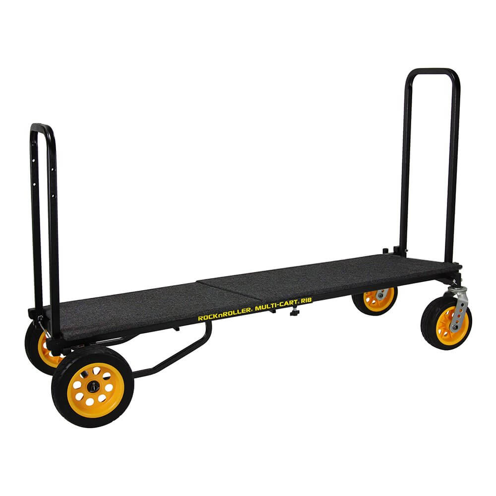 Rock N Roller R18RT Multi Cart Equipment Trolley inc. RSD14 Carpeted Shelf Deck