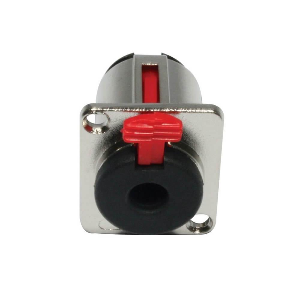 "JACK Silver 6.3mm 1/4"" Chassis Panel Mount Socket Audio Studio DJ"